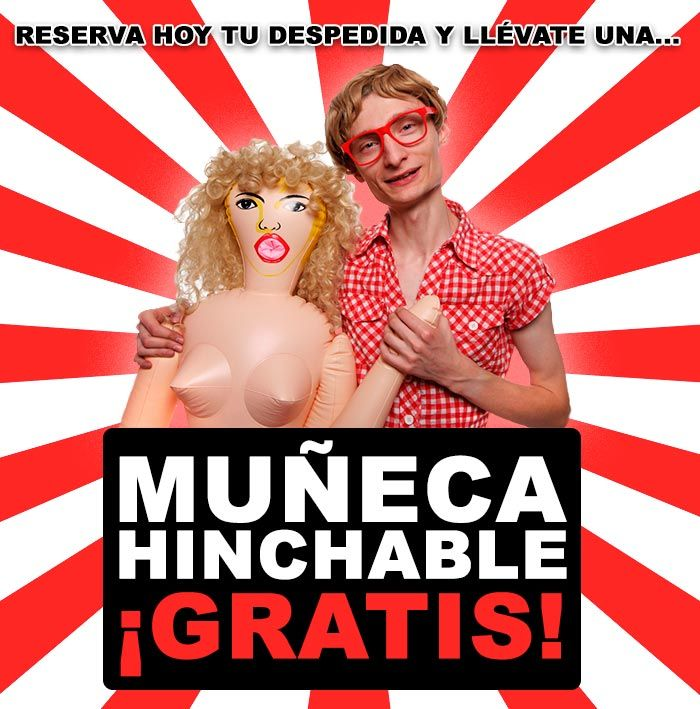 popup resacon - Muñeca hinchable para despedidas de soltero