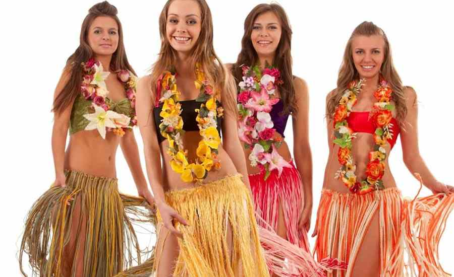 Bailes hawaianos para una despedida exótica