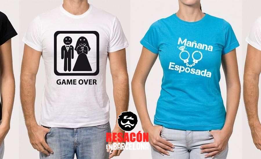 Camisetas divertidas para despedidas de soltero y soltera