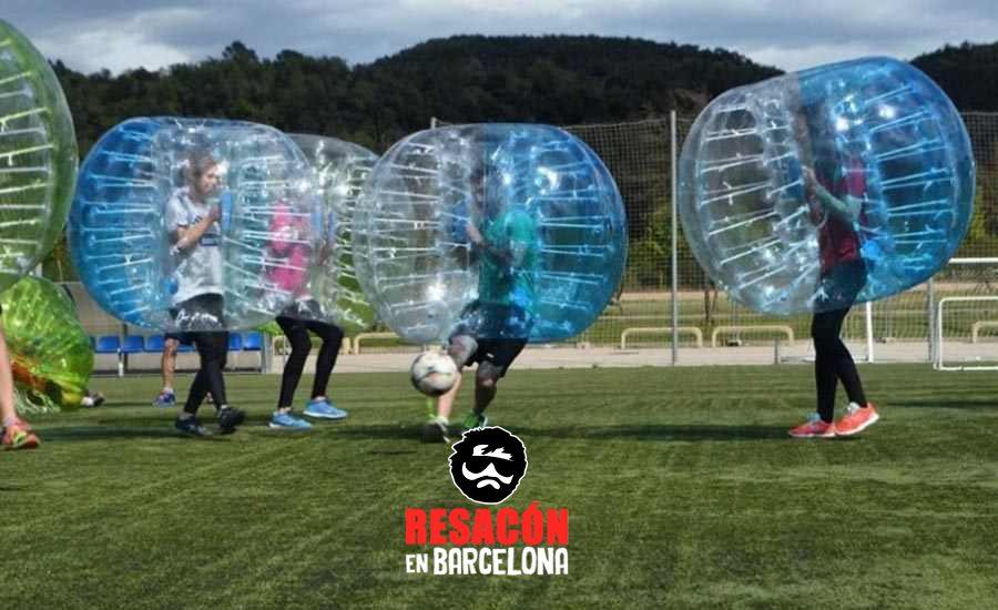 Bubble Football en Sitges para despedidas y cumpleaños